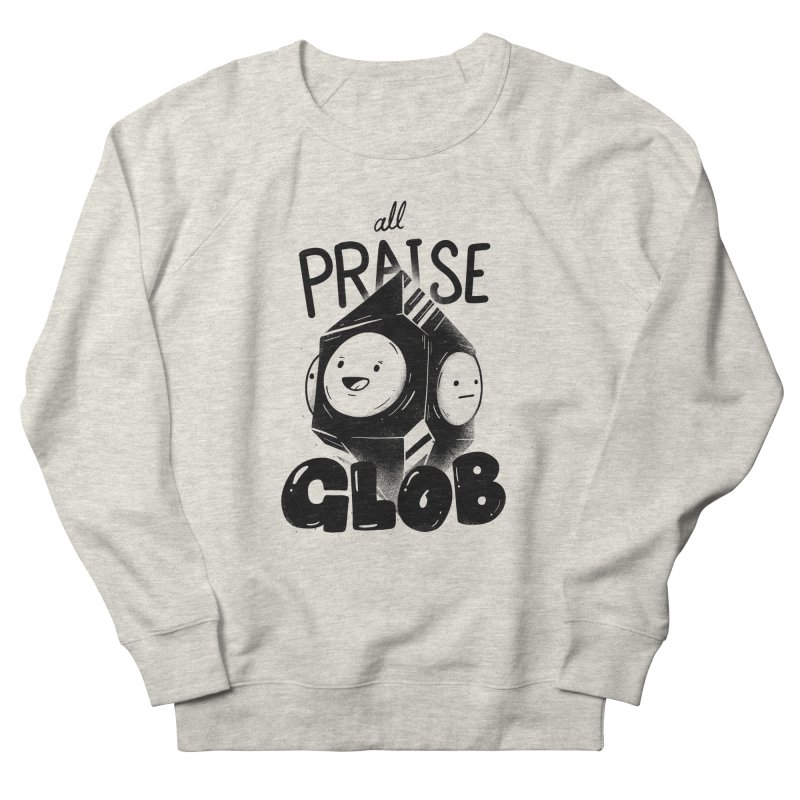 Praise Glob Men's French Terry Sweatshirt by Arkady's print shop