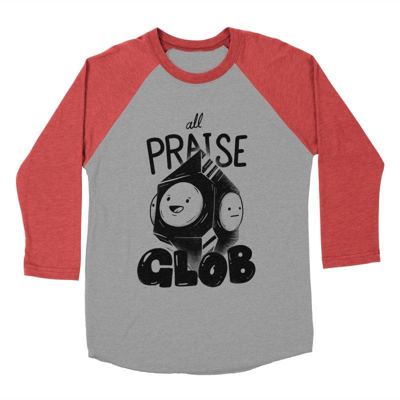 Praise Glob Men's Baseball Triblend Longsleeve T-Shirt by Arkady's print shop
