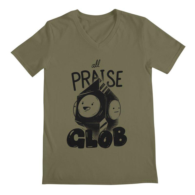 Praise Glob Men's V-Neck by Arkady's print shop