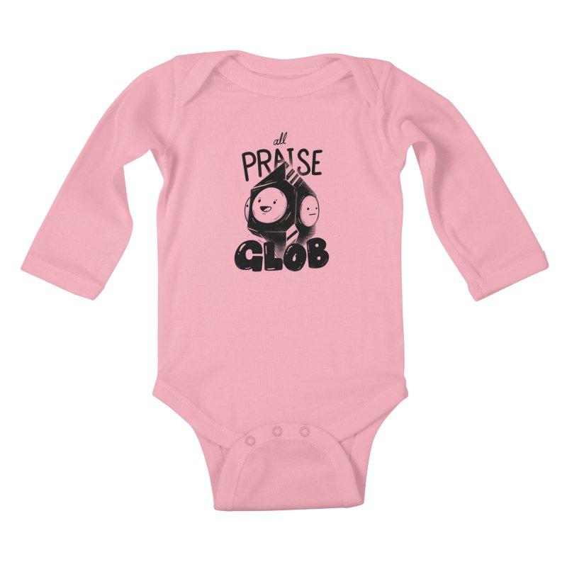 Praise Glob Kids Baby Longsleeve Bodysuit by Arkady's print shop