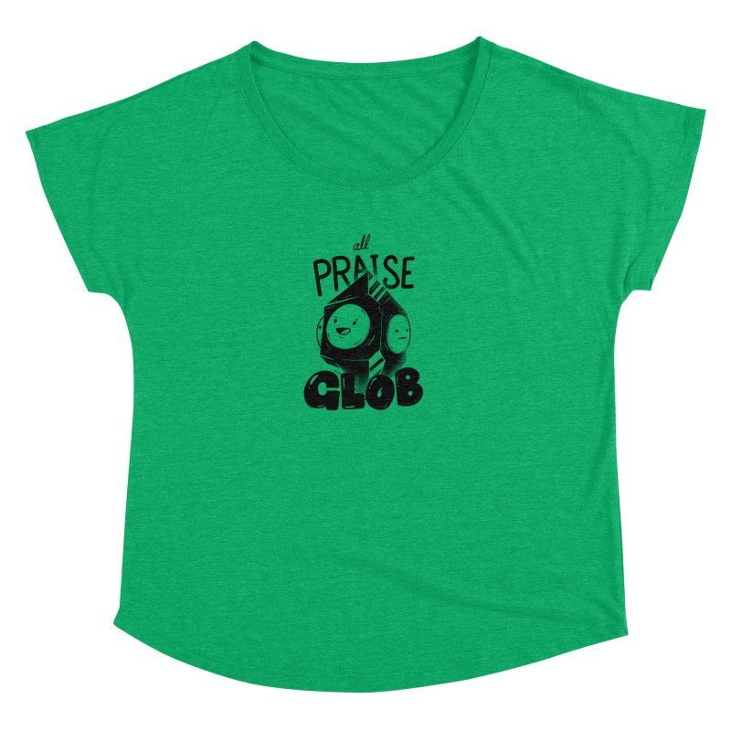 Praise Glob Women's Scoop Neck by Arkady's print shop