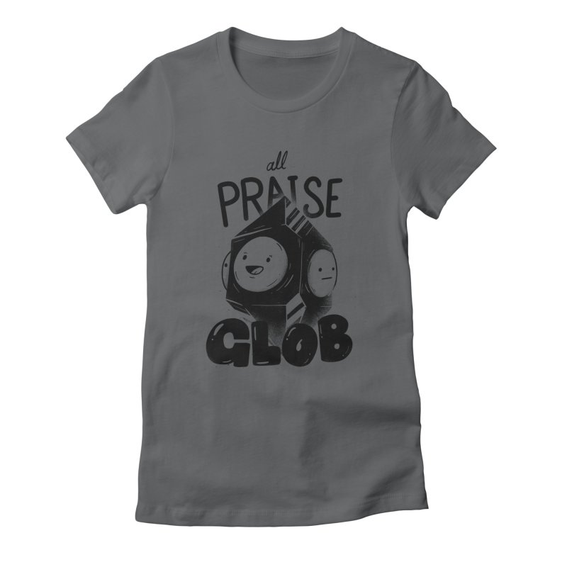 Praise Glob Women's Fitted T-Shirt by Arkady's print shop