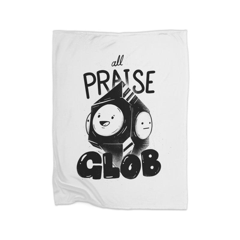Praise Glob Home Blanket by Arkady's print shop