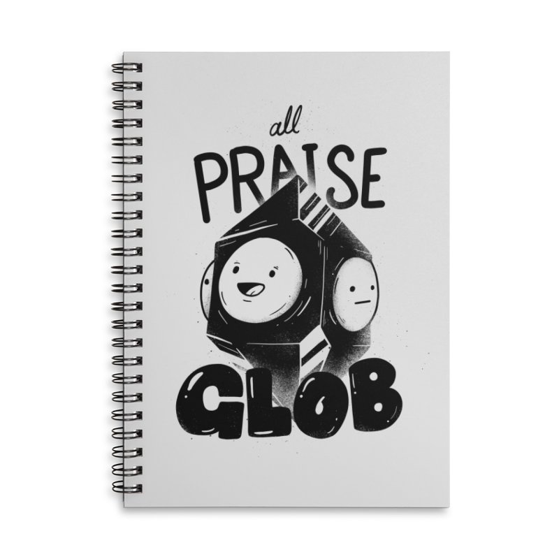 Praise Glob Accessories Lined Spiral Notebook by Arkady's print shop
