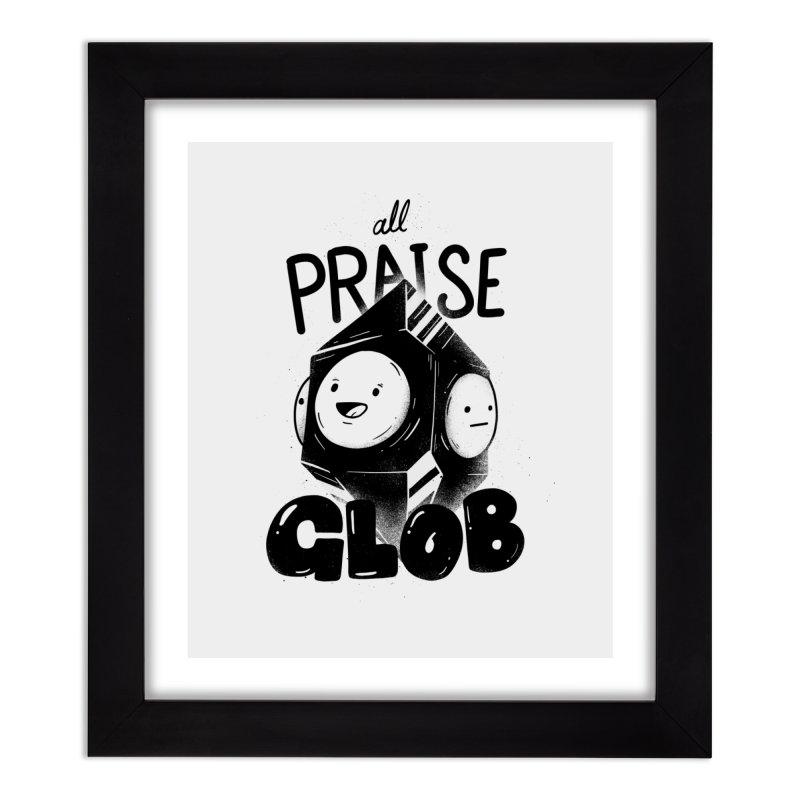 Praise Glob Home Framed Fine Art Print by Arkady's print shop