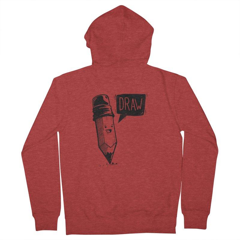 Draw Men's Zip-Up Hoody by Arkady's print shop