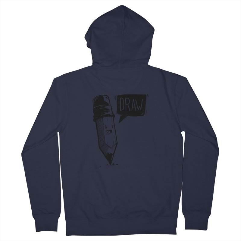 Draw Men's Zip-Up Hoody by Arkady's print shop