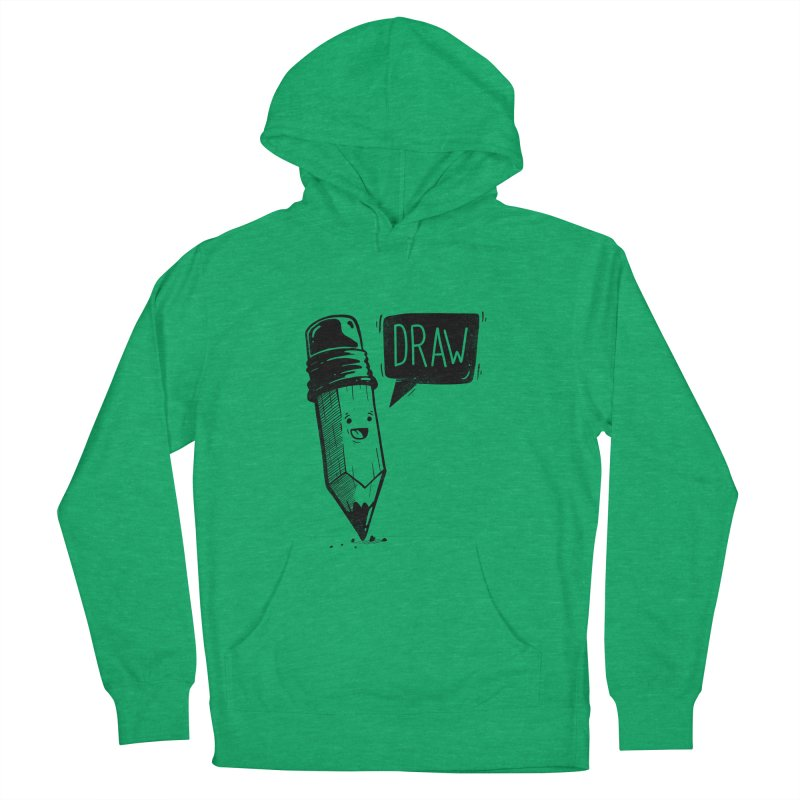 Draw Women's French Terry Pullover Hoody by Arkady's print shop