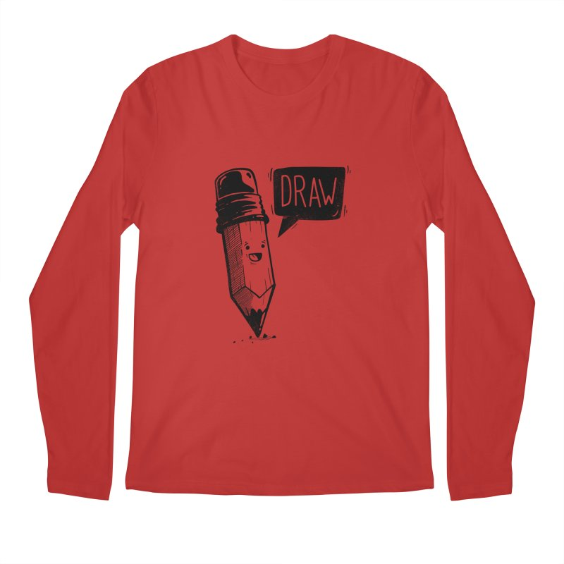 Draw Men's Regular Longsleeve T-Shirt by Arkady's print shop