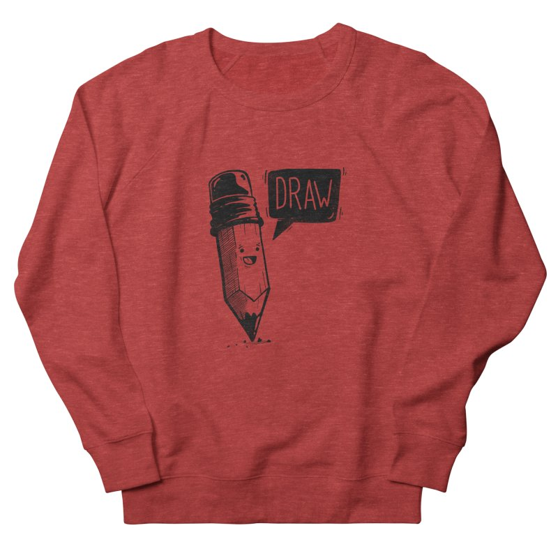 Draw Men's French Terry Sweatshirt by Arkady's print shop