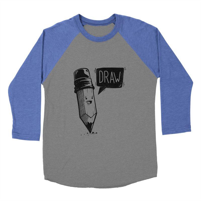 Draw Women's Baseball Triblend Longsleeve T-Shirt by Arkady's print shop