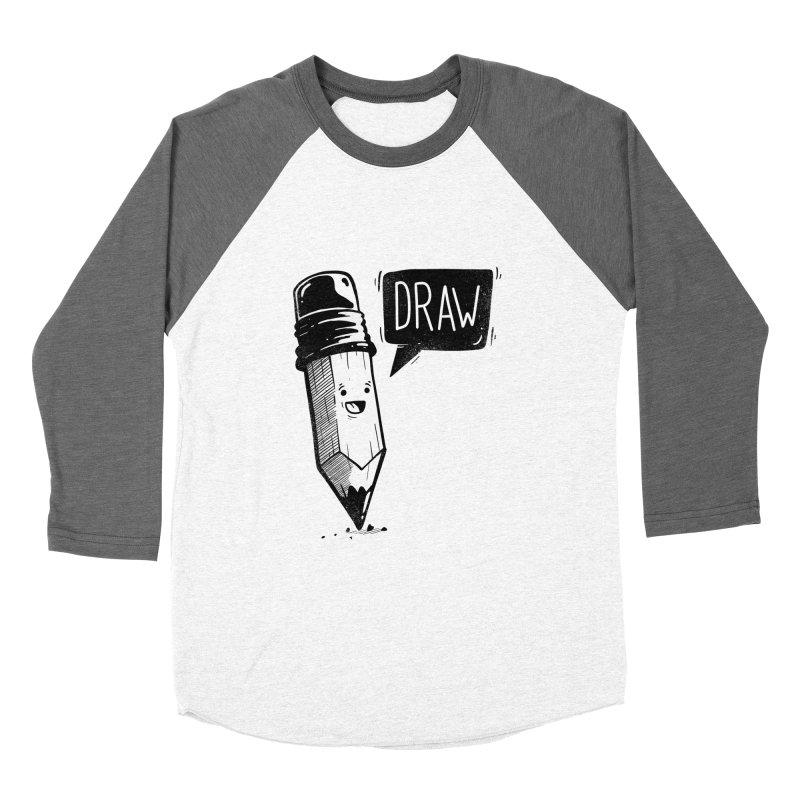 Draw Men's Baseball Triblend Longsleeve T-Shirt by Arkady's print shop