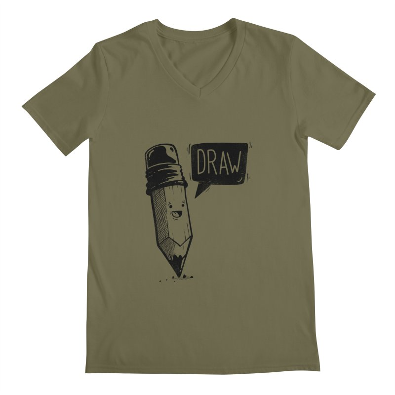Draw Men's V-Neck by Arkady's print shop