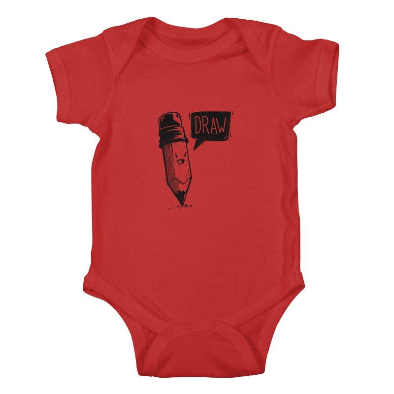 Draw Kids Baby Bodysuit by Arkady's print shop