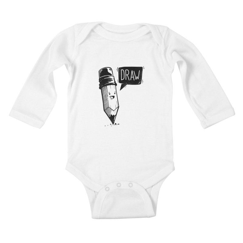 Draw Kids Baby Longsleeve Bodysuit by Arkady's print shop