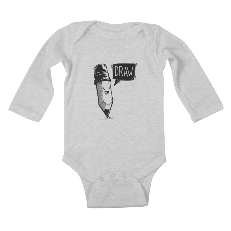 Draw Kids Baby Longsleeve Bodysuit by Arkady's print shop
