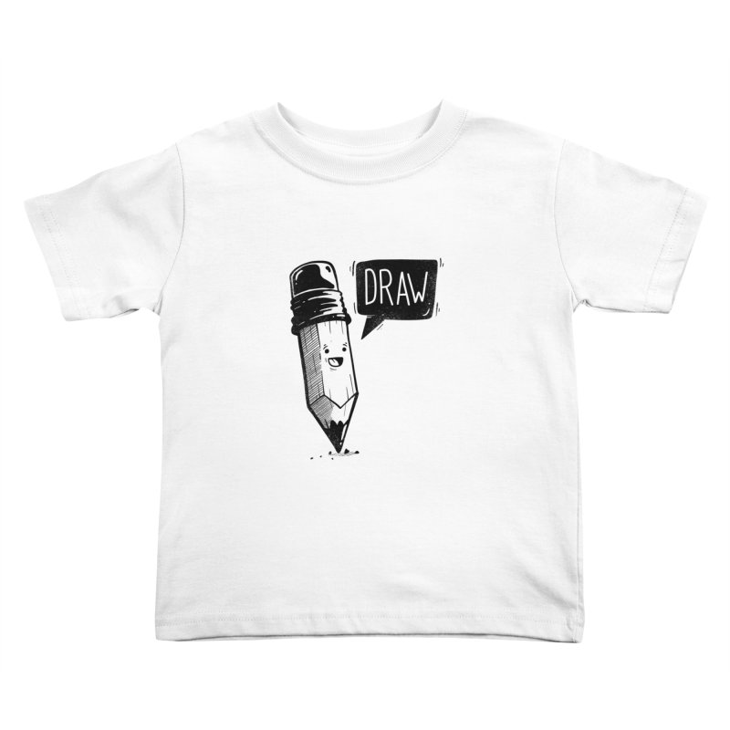 Draw Kids Toddler T-Shirt by Arkady's print shop