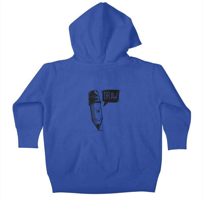 Draw Kids Baby Zip-Up Hoody by Arkady's print shop