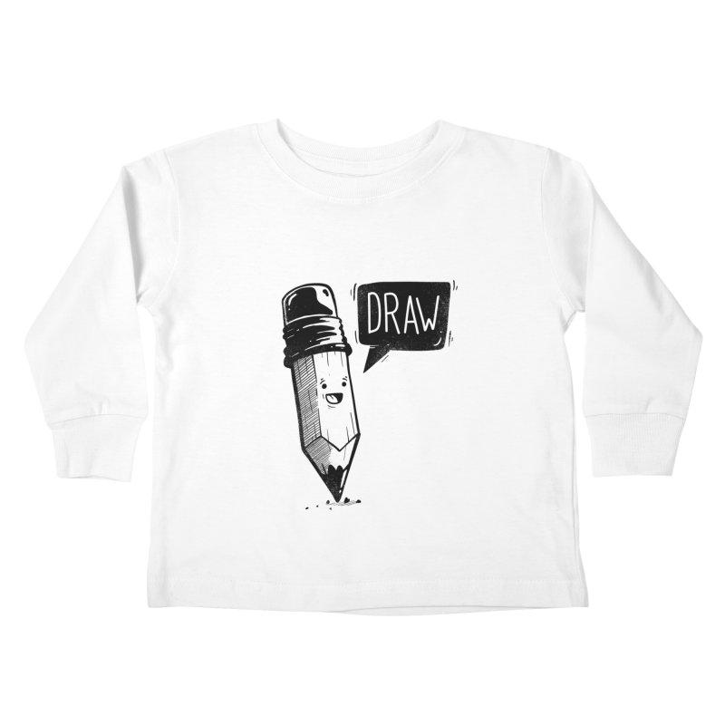 Draw Kids Toddler Longsleeve T-Shirt by Arkady's print shop