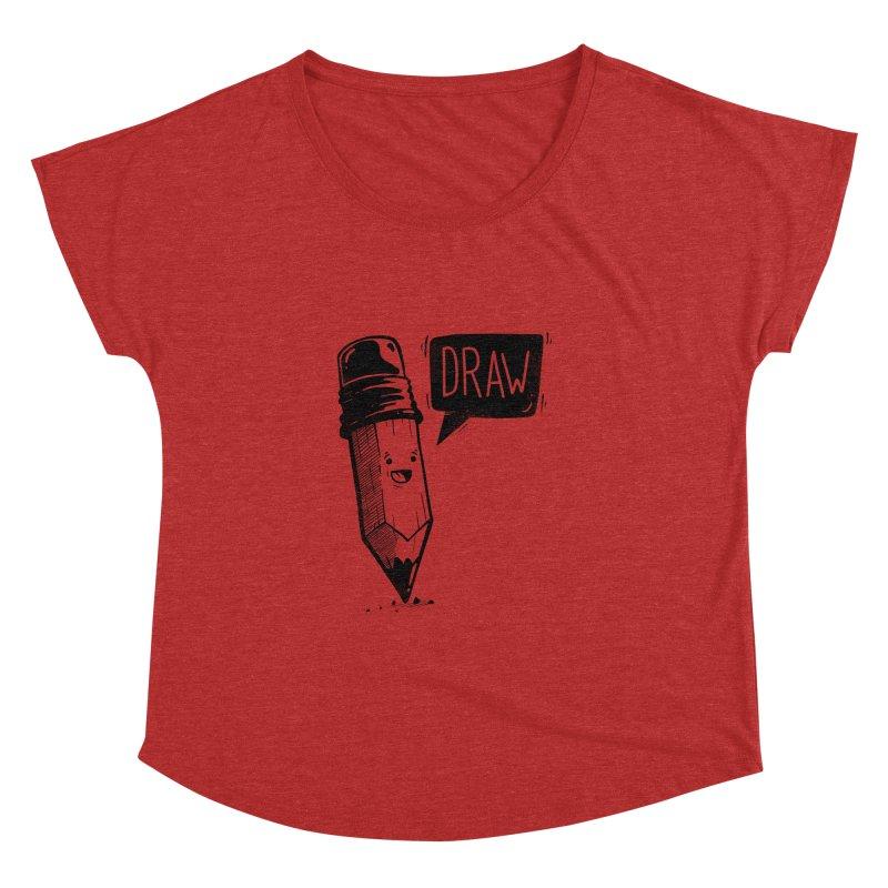 Draw Women's Dolman Scoop Neck by Arkady's print shop