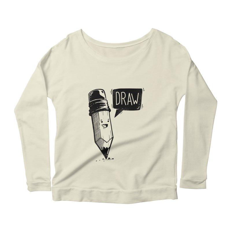 Draw Women's Scoop Neck Longsleeve T-Shirt by Arkady's print shop