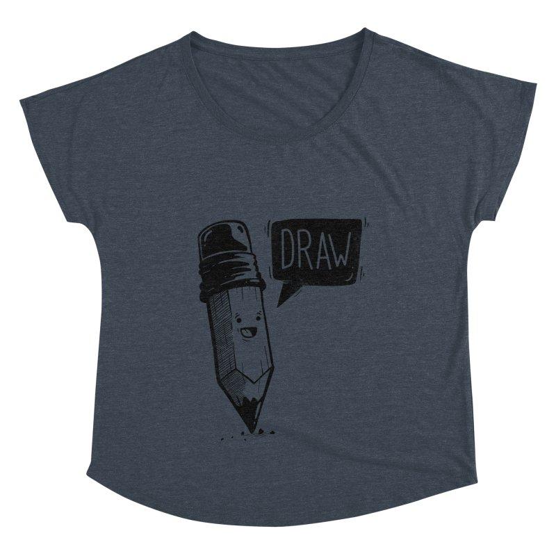 Draw Women's Scoop Neck by Arkady's print shop