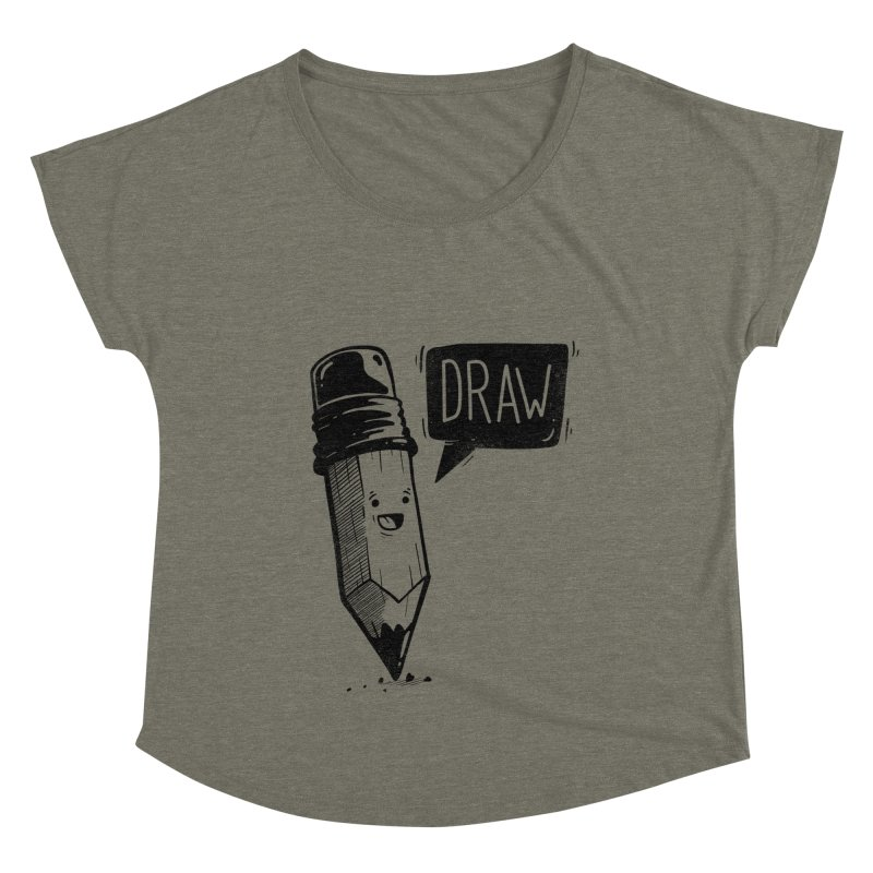 Draw Women's Scoop Neck by Arkady's print shop