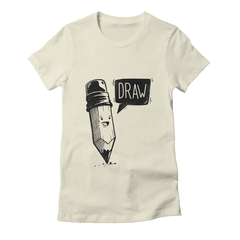 Draw Women's Fitted T-Shirt by Arkady's print shop