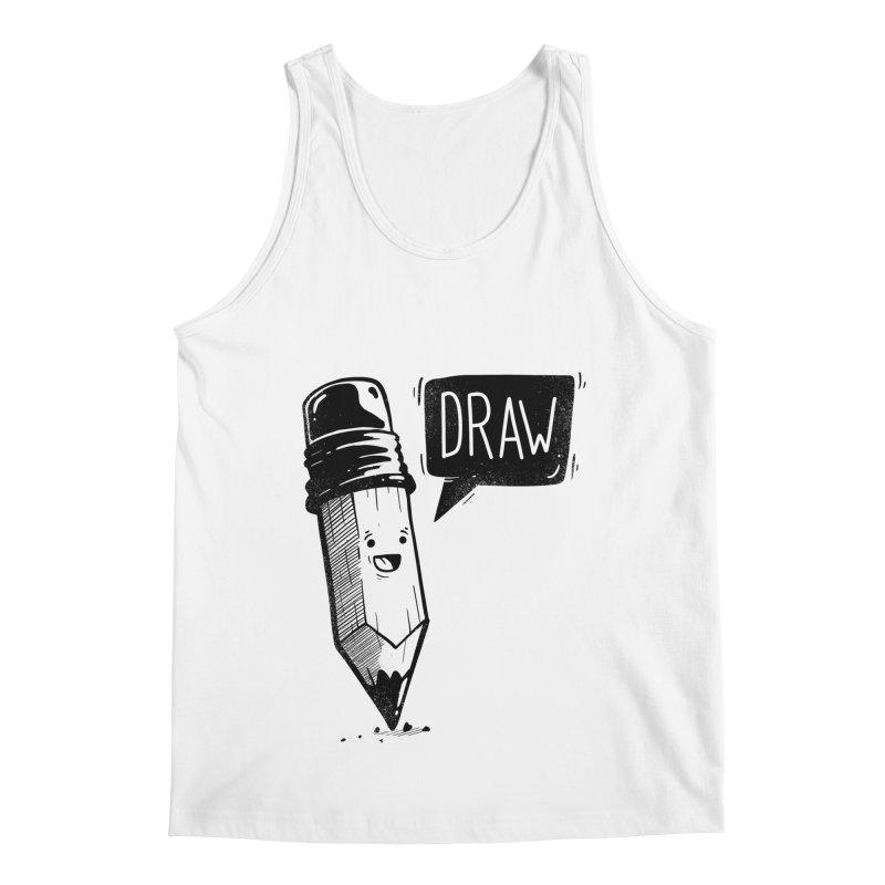 Draw Men's Regular Tank by Arkady's print shop