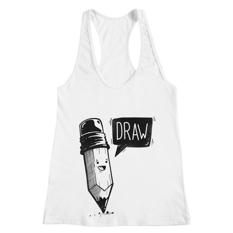 Draw Women's Racerback Tank by Arkady's print shop