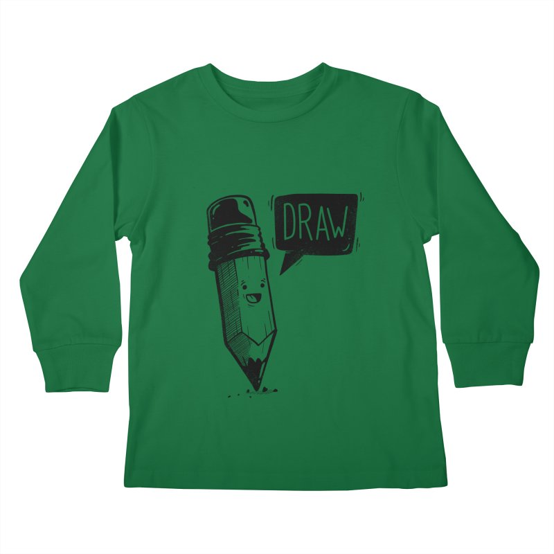 Draw Kids Longsleeve T-Shirt by Arkady's print shop