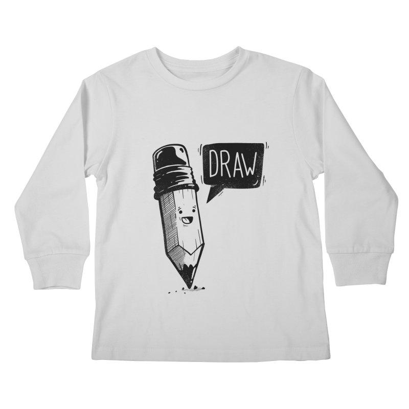 Draw Kids Longsleeve T-Shirt by Arkady's print shop