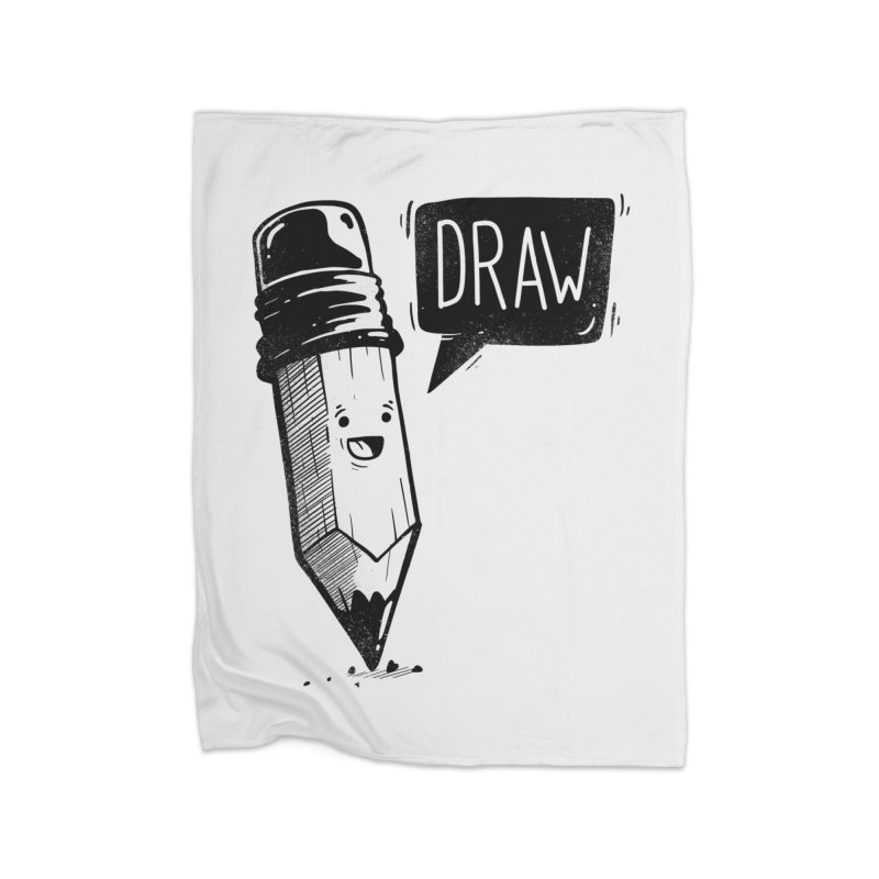 Draw Home Fleece Blanket Blanket by Arkady's print shop
