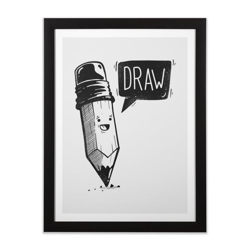 Draw Home Framed Fine Art Print by Arkady's print shop