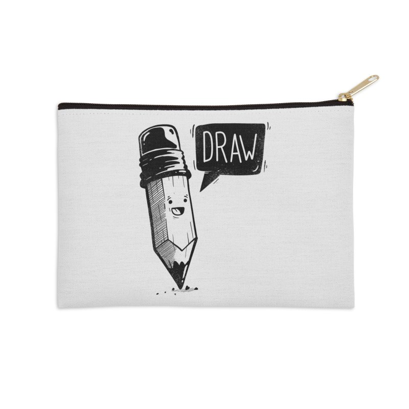 Draw Accessories Zip Pouch by Arkady's print shop