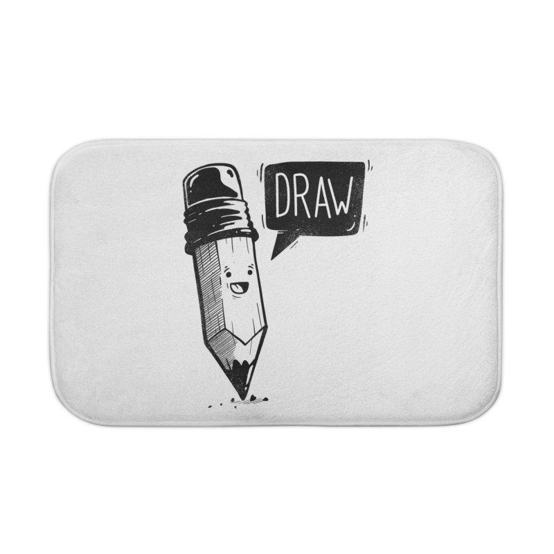 Draw Home Bath Mat by Arkady's print shop