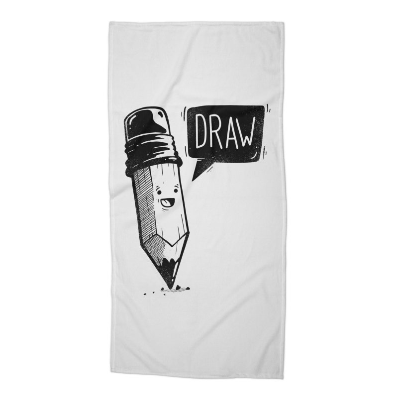 Draw Accessories Beach Towel by Arkady's print shop