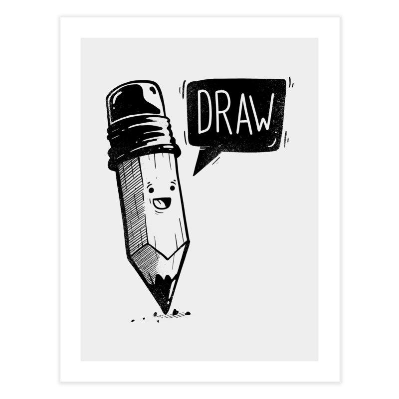 Draw Home Fine Art Print by Arkady's print shop