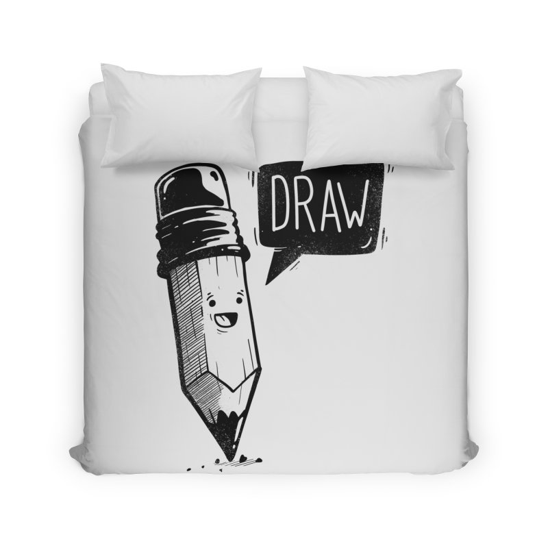 Draw Home Duvet by Arkady's print shop