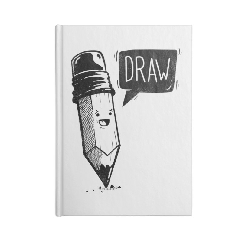 Draw Accessories Lined Journal Notebook by Arkady's print shop