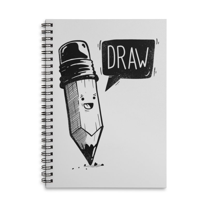 Draw Accessories Lined Spiral Notebook by Arkady's print shop