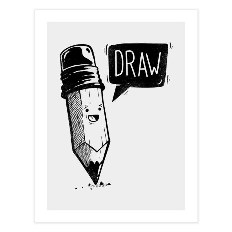 Draw Home Fine Art Print by Arkady's print shop