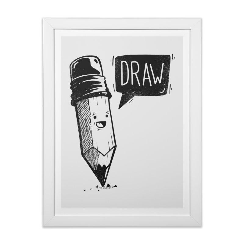 Draw Home Framed Fine Art Print by Arkady's print shop