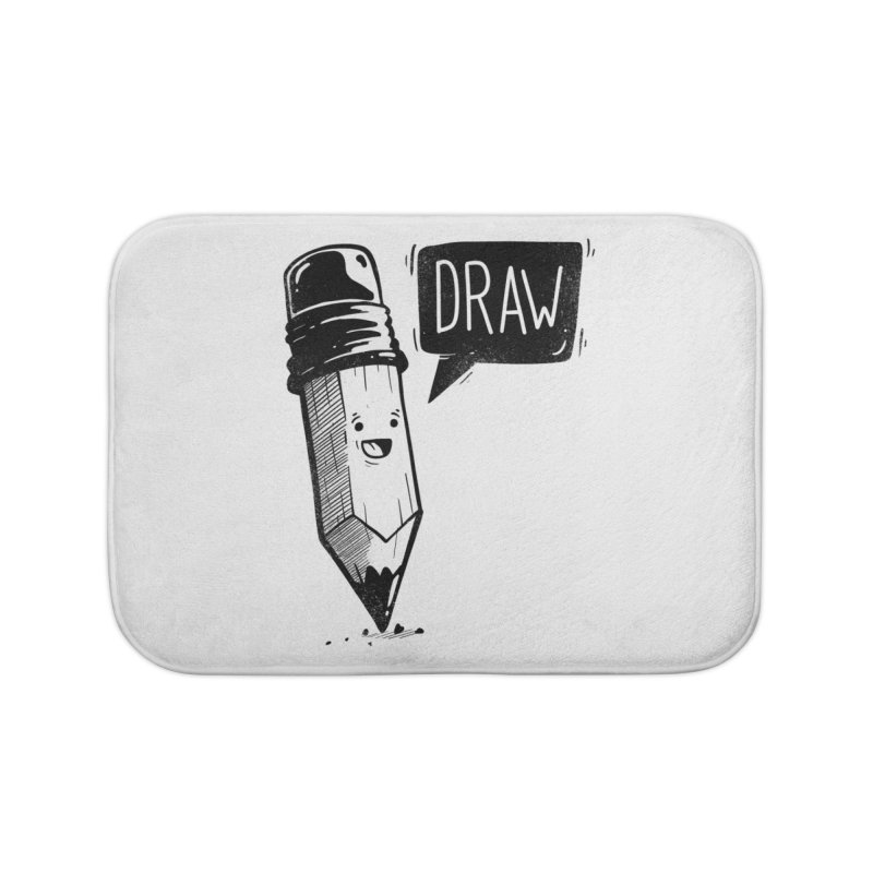 Draw Home Bath Mat by Arkady's print shop