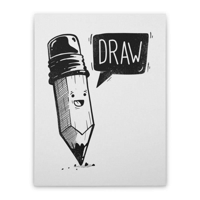 Draw Home Stretched Canvas by Arkady's print shop