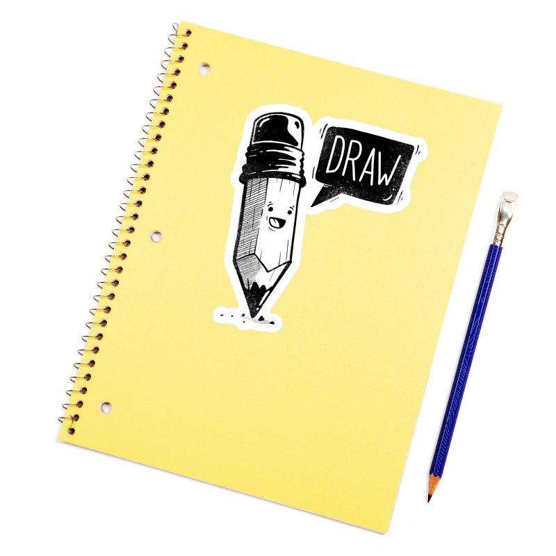 Draw Accessories Sticker by Arkady's print shop