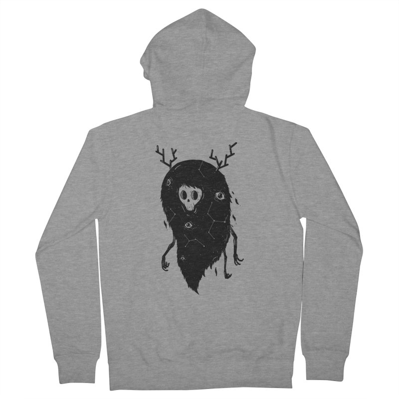 Spooky #1 Men's French Terry Zip-Up Hoody by Arkady's print shop