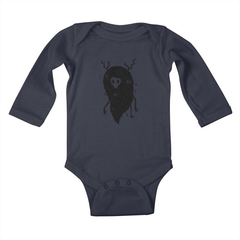 Spooky #1 Kids Baby Longsleeve Bodysuit by Arkady's print shop