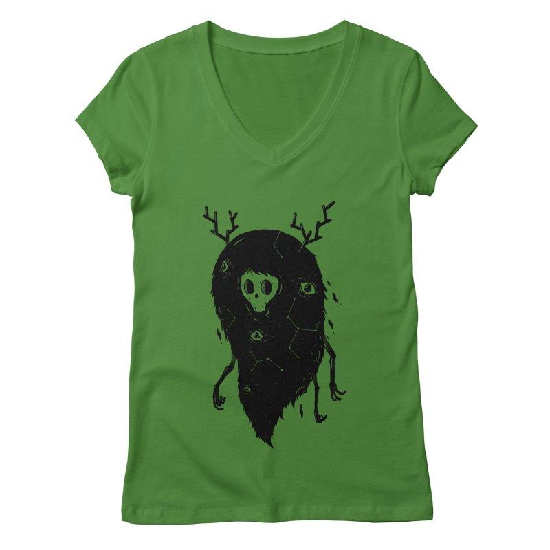 Spooky #1 Women's V-Neck by Arkady's print shop
