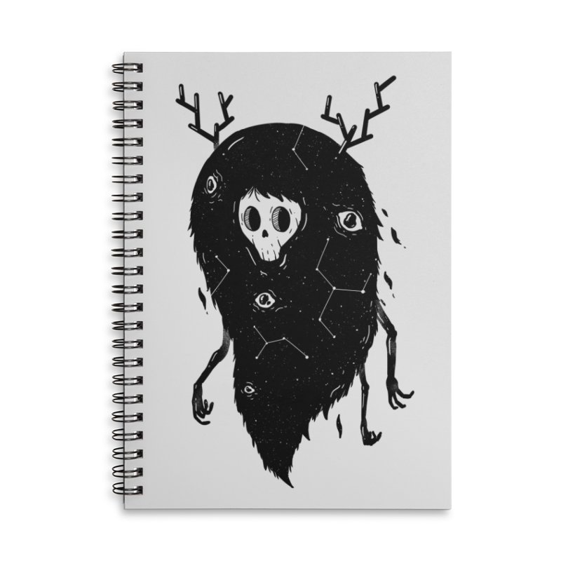 Spooky #1 Accessories Lined Spiral Notebook by Arkady's print shop